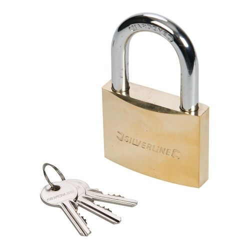 Silverline MSS05 Brass Padlock 60mm